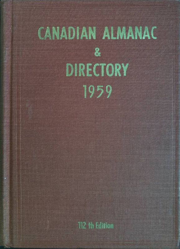 112th year of publication: Canadian almanac & directory for 1959