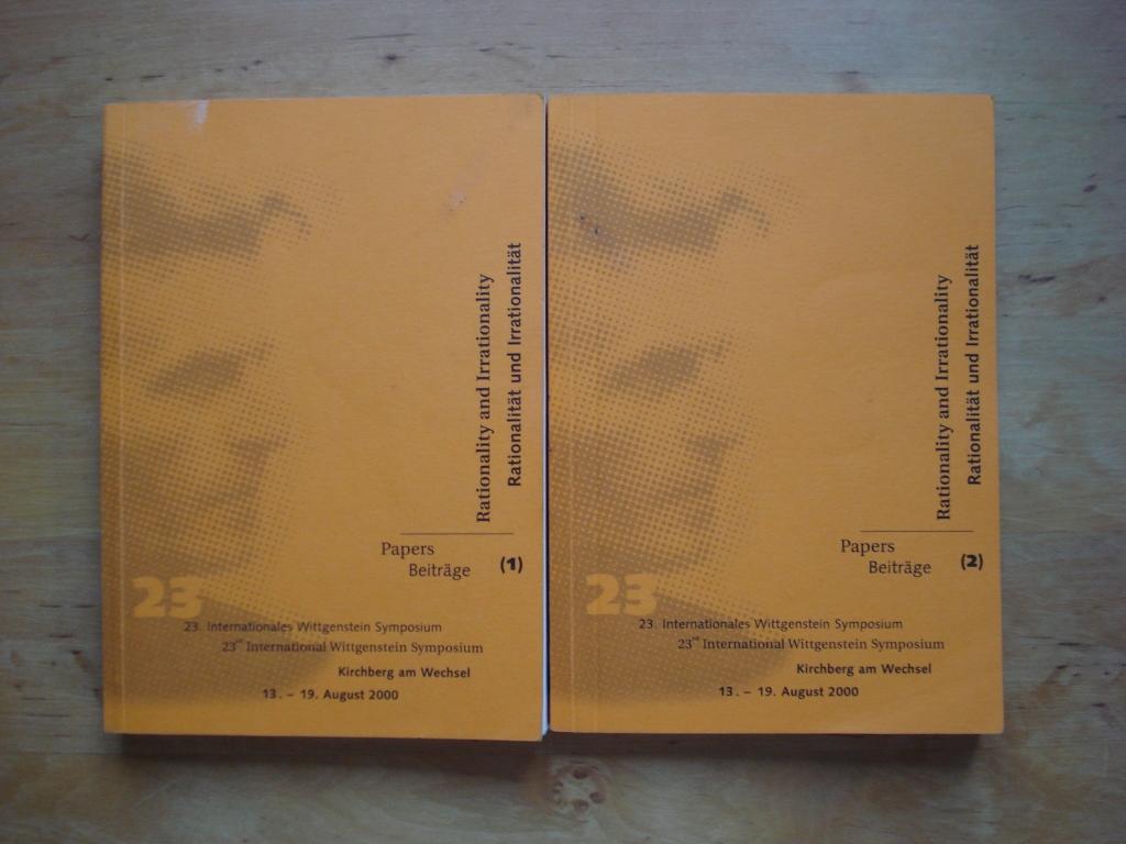 23. Internationales Wittgenstein Symposium  / 23rd International Wittgenstein Symposium Kirchberg am Wechsel 13. - 19. August 2000 - Beiträge / Papers (2 Bände)