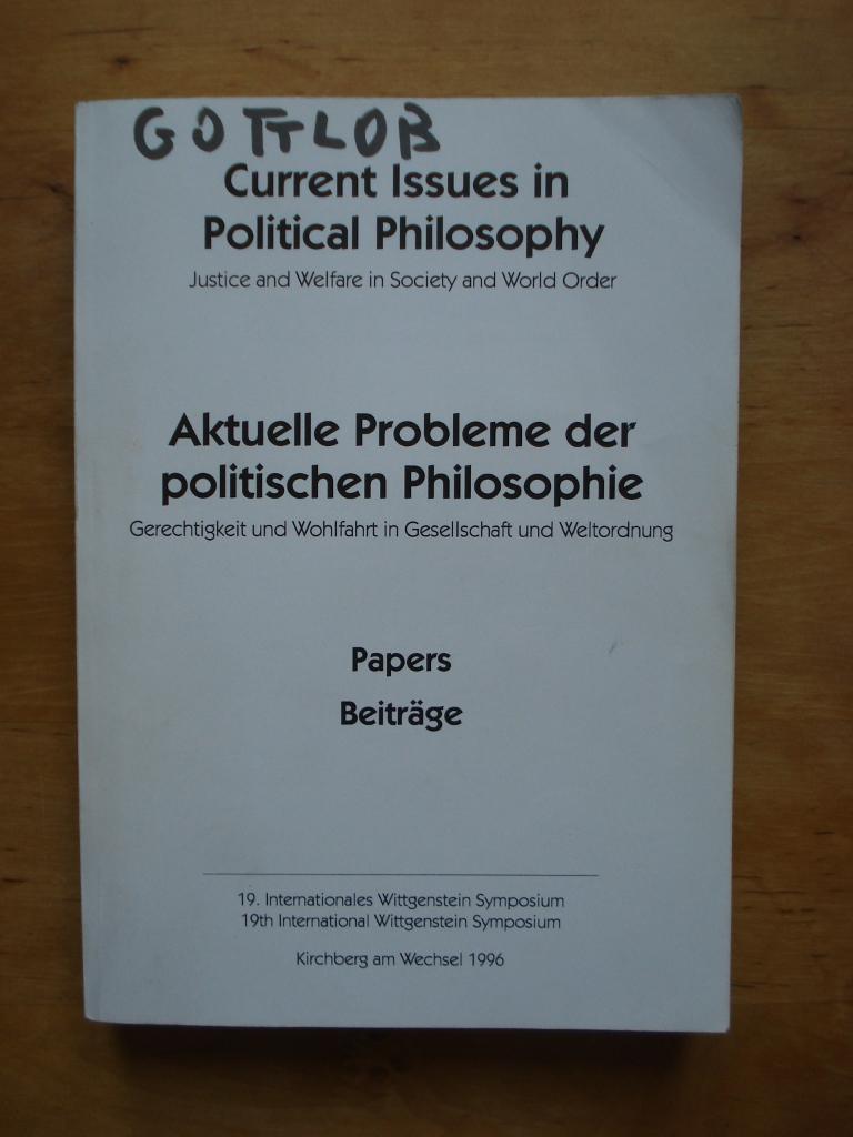 19. Internationales Wittgenstein Symposium / 19th Internatinal Wittgenstein Symposium August 1996 - Beiträge / Papiers