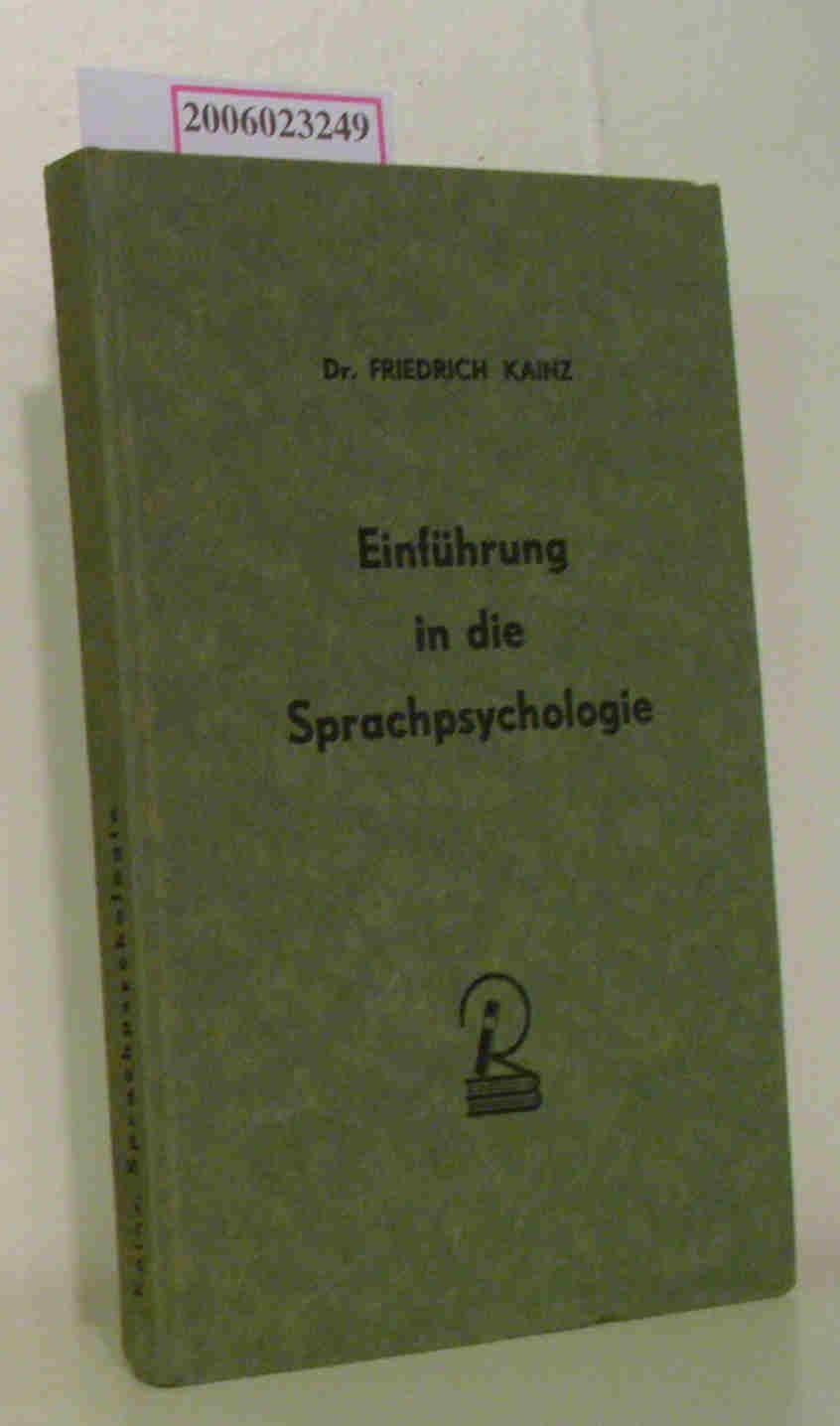 Einführung in die Sprachpsychologie