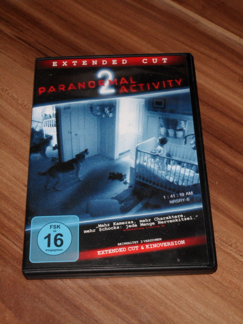 Paranormal Activity 2 (Extended Cut), DVD